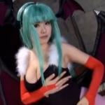 【モリガン】コスプレがセクシーすぎる浜崎りおの唾たっぷりフェラ