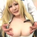 【コスプレイヤー】色白巨乳娘の仁科百華が乳首コリコリされてズッコンバッコンだ!