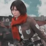 【アニコス】兵団のマフラー美女ミサカが兵長に犯される!女型の巨人の動きはオモシロ過ぎる!