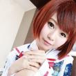 鶴姫コスで着衣セックス