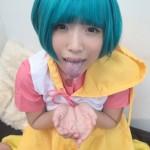 【アニコス】懐かしい森沢優コスでパイパンマ●コにバイブが刺さった美女!!