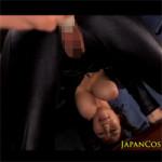 【キャットスーツ】爆乳垂らしてケツ突き出してバイブぶち込まれるJULIA!クンニや電マなどオマンコは責められっぱなし!