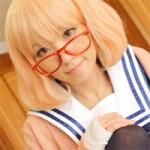 【アニコス】栗山未来コスプレでパイパンマンコのメガネ美女が電マとチ●ポを味わってトロ顔してます!