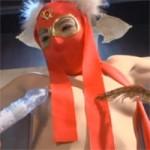 【ヒロイン】セクシー仮面が捕まった!磷付けられてバイブと羽根でくすぐりと快感で辱められる!