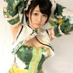 【アニコス】小泉花陽コス着た色白なレイヤーさんのおっぱい!