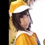 【アニコス】千石撫子のコスプレでオマタを弄ってしまうコスプレイヤーさん。