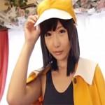 【アニコス】化物語のスク水撫子コスプレでオマンコ弄るエロい女!