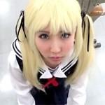 【アニコス】さえかの澤村・スペンサー・英梨々コスでフェラチオと足コキするレイヤーさん!