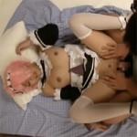 【アニコス】ラムコスプレの恋人と着衣のまま巨乳がボヨンボヨン揺れる愛欲セックス!
