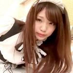 【メイド無修正】コスプレ美女のおまんこ丸見え結合部分が卑猥な中出し着衣セックスはとても良質!