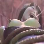 【対魔忍アサギ】乳首触手姦で射乳アクメを繰り返し絶叫する最強のくノ一!