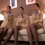 【 CA 】3人の美人スッチーが激しく突かれてイキまくる淫乱極まりない動画!