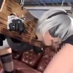【コスプレイヤー】ギロチン拘束された2Bコスのほのかをイラマチオで苦しめながらのバックハメ!