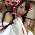 東方タッグ霊夢コスプレのむちむちレイヤーがキモブタヲタにハメ撮り動画!